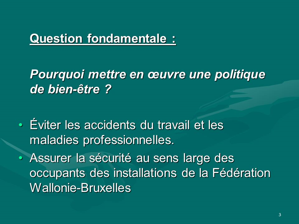 Question fondamentale :