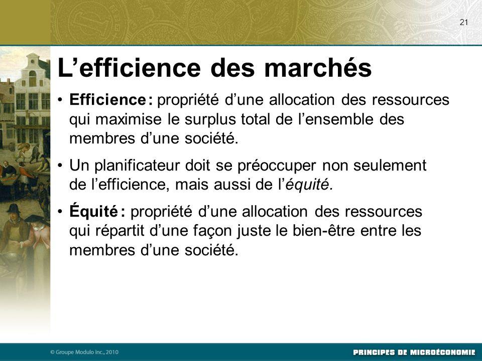 L'efficience des marchés