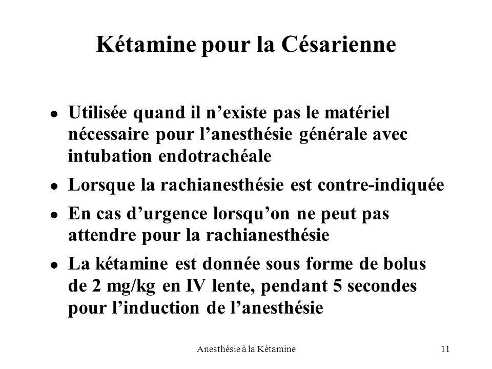 Kétamine pour la Césarienne