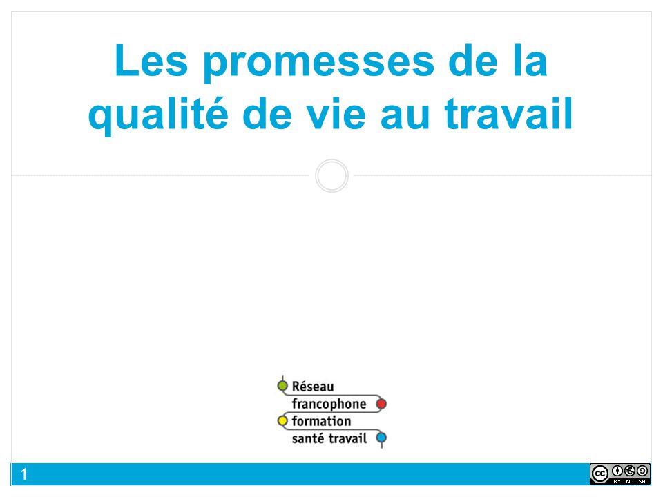 Les promesses de la qualité de vie au travail