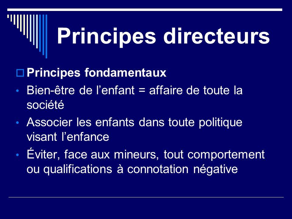 Principes directeurs Principes fondamentaux