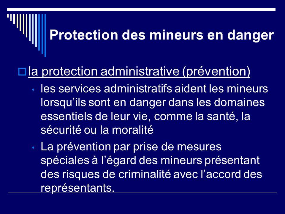 Protection des mineurs en danger