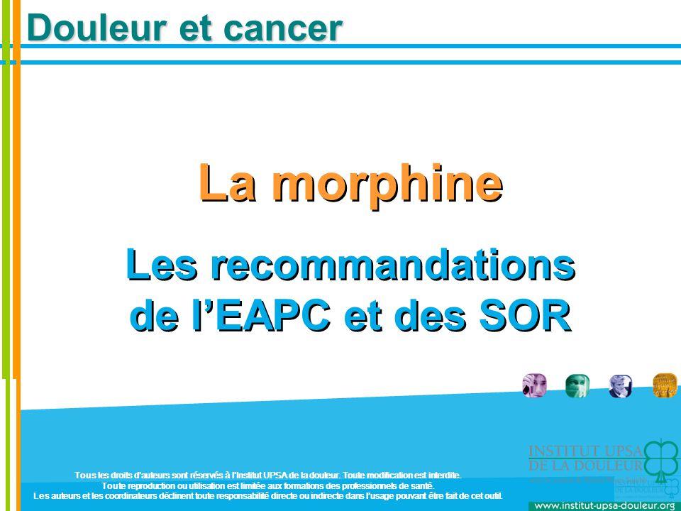 Les recommandations de l'EAPC et des SOR