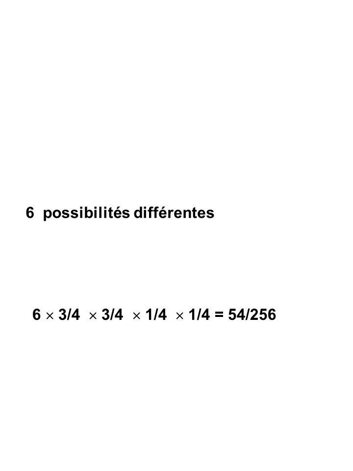 6 possibilités différentes