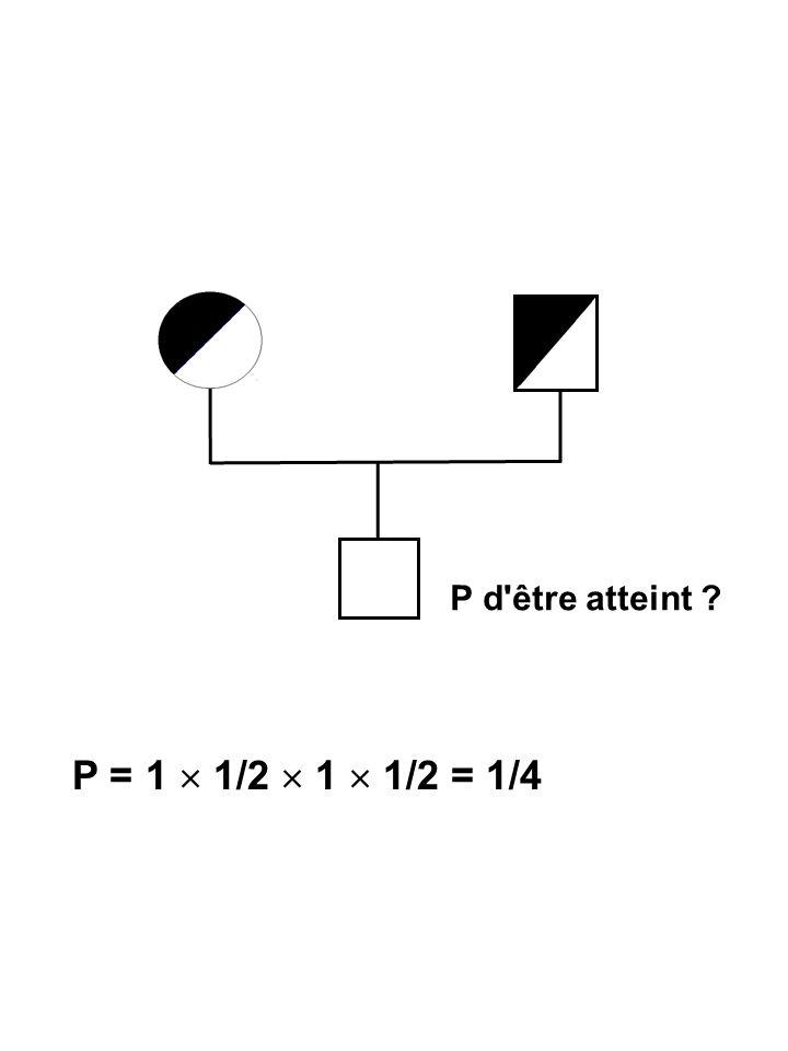 P d être atteint P = 1  1/2  1  1/2 = 1/4