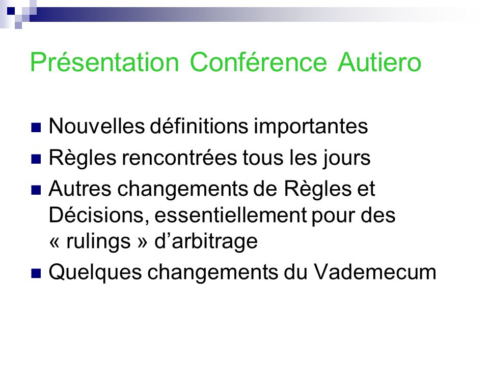 Présentation Conférence Autiero