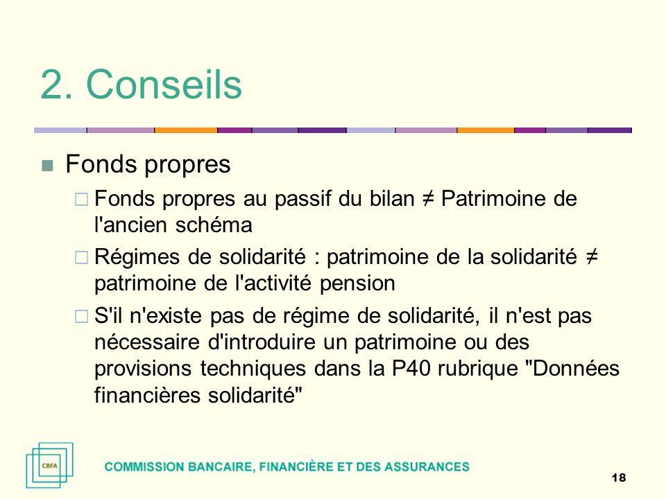 2. Conseils Fonds propres