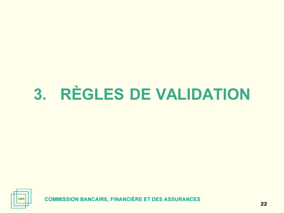 règles de validation
