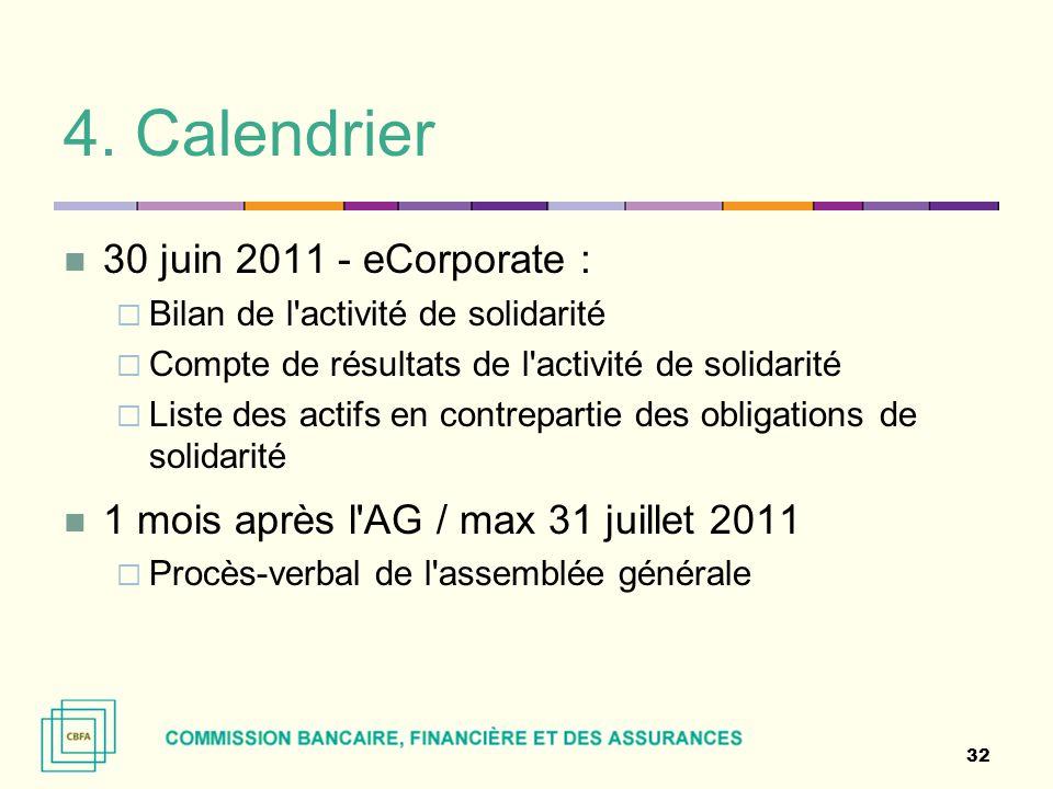 4. Calendrier 30 juin 2011 - eCorporate :