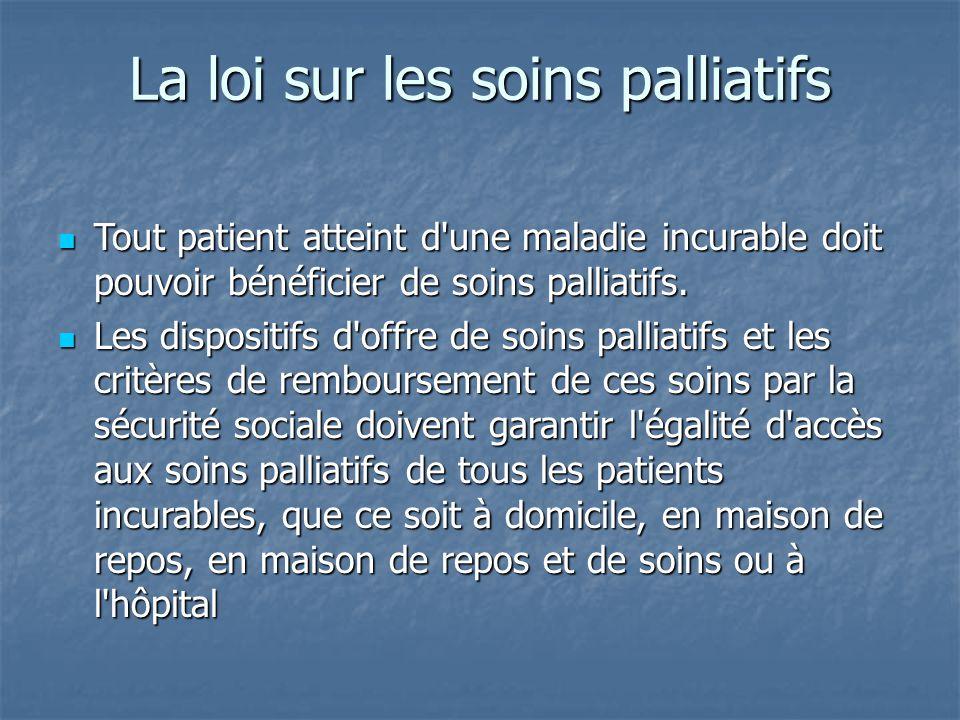 La loi sur les soins palliatifs