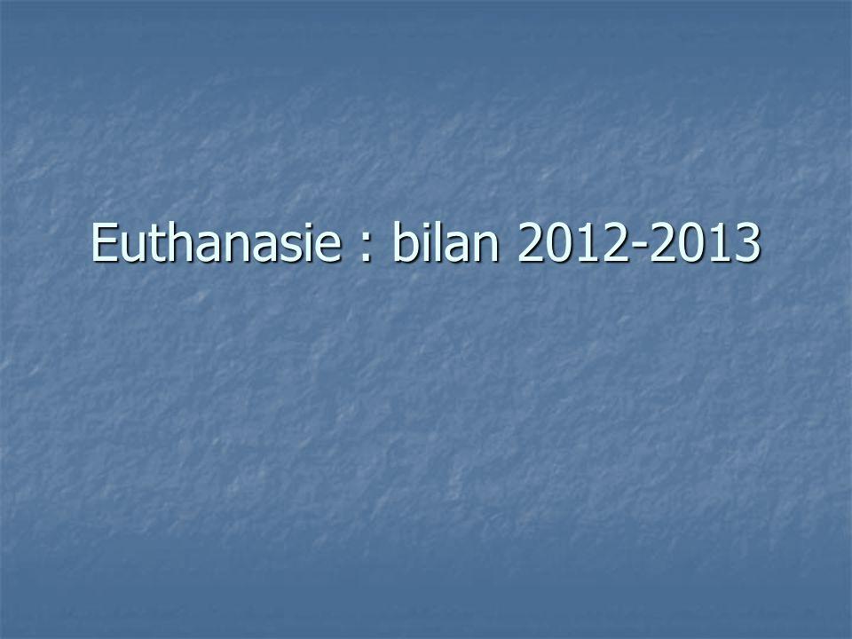 Euthanasie : bilan 2012-2013