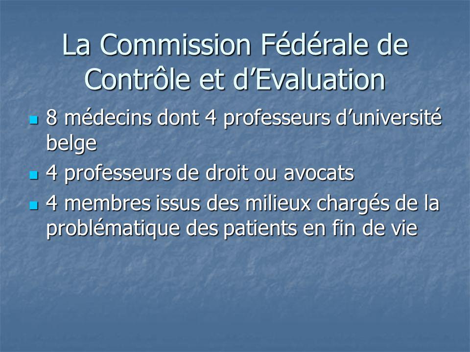 La Commission Fédérale de Contrôle et d'Evaluation