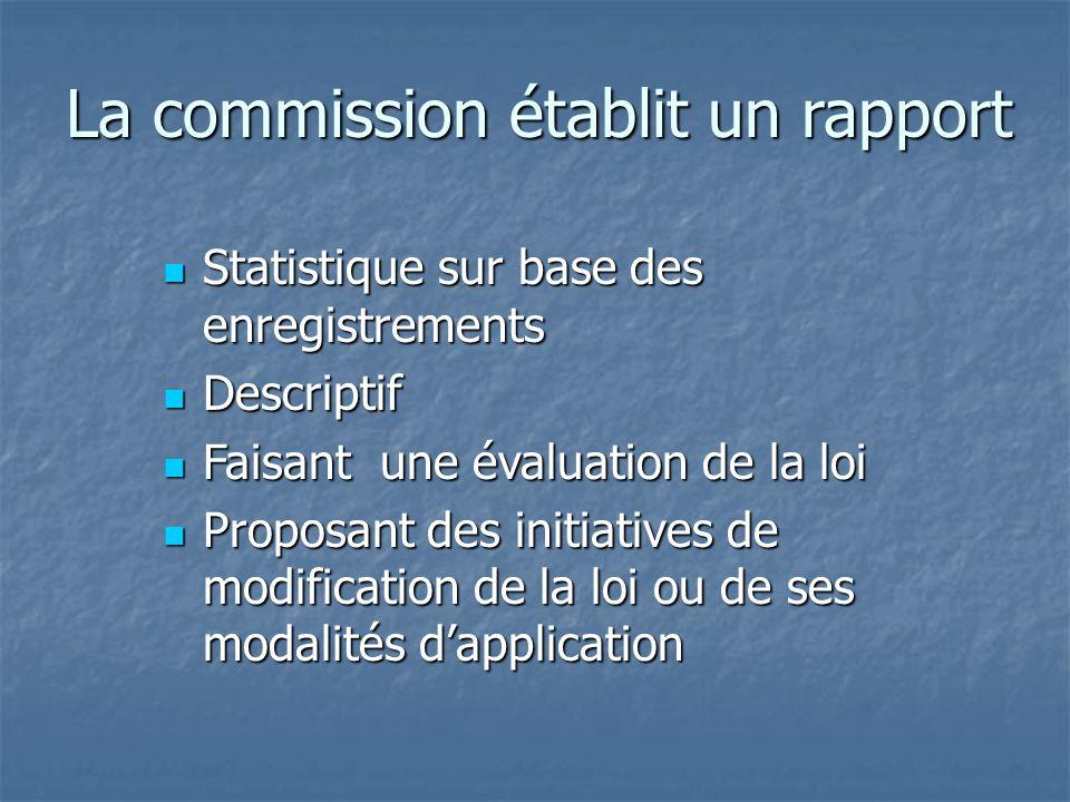 La commission établit un rapport