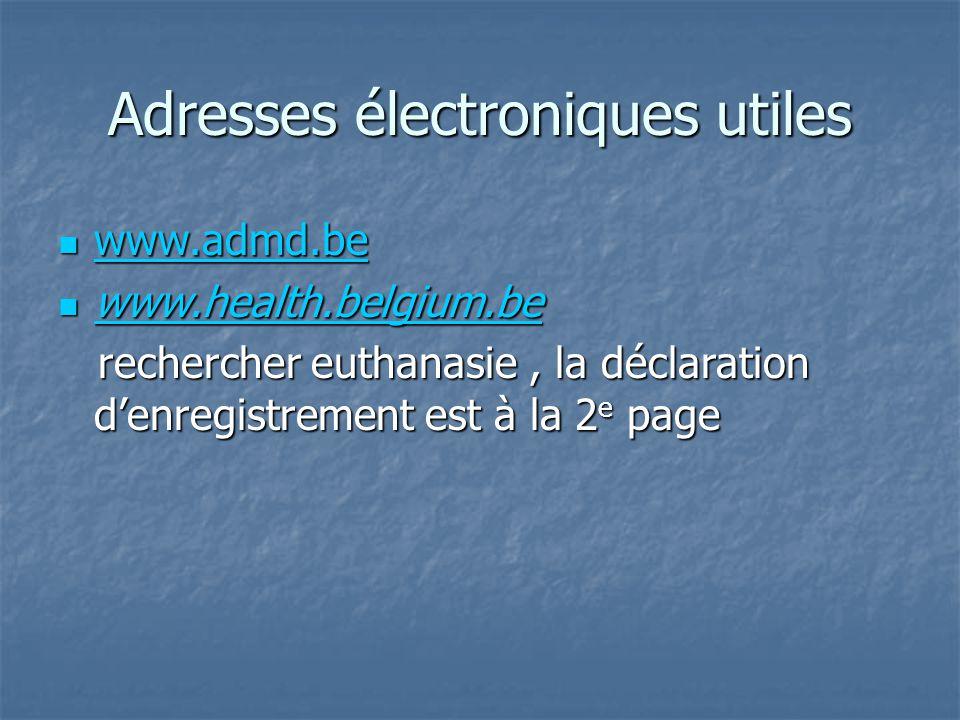 Adresses électroniques utiles