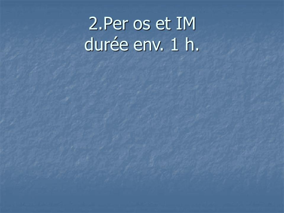 2.Per os et IM durée env. 1 h.