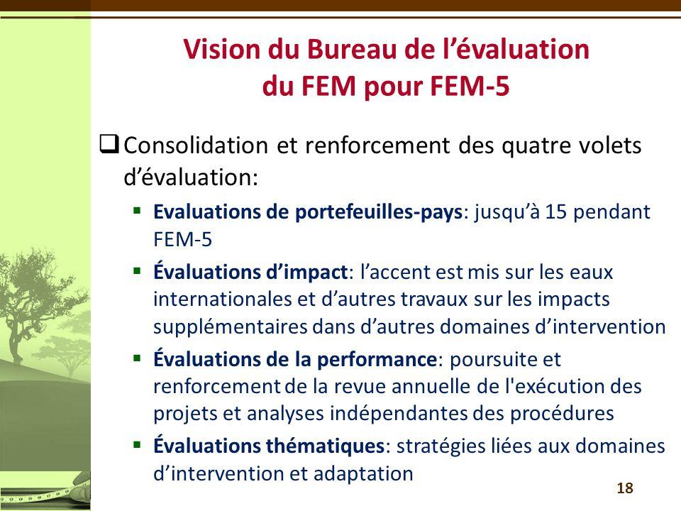 Vision du Bureau de l'évaluation du FEM pour FEM-5