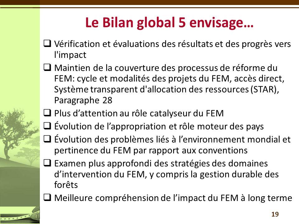 Le Bilan global 5 envisage…