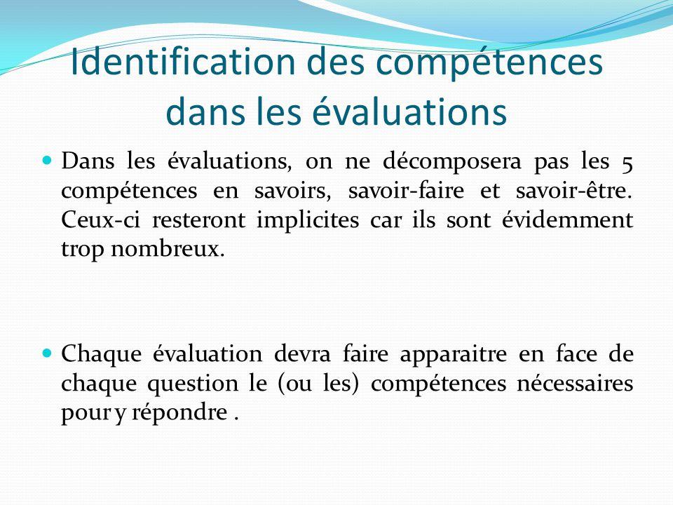 Identification des compétences dans les évaluations