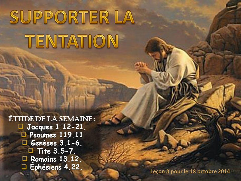 SUPPORTER LA TENTATION