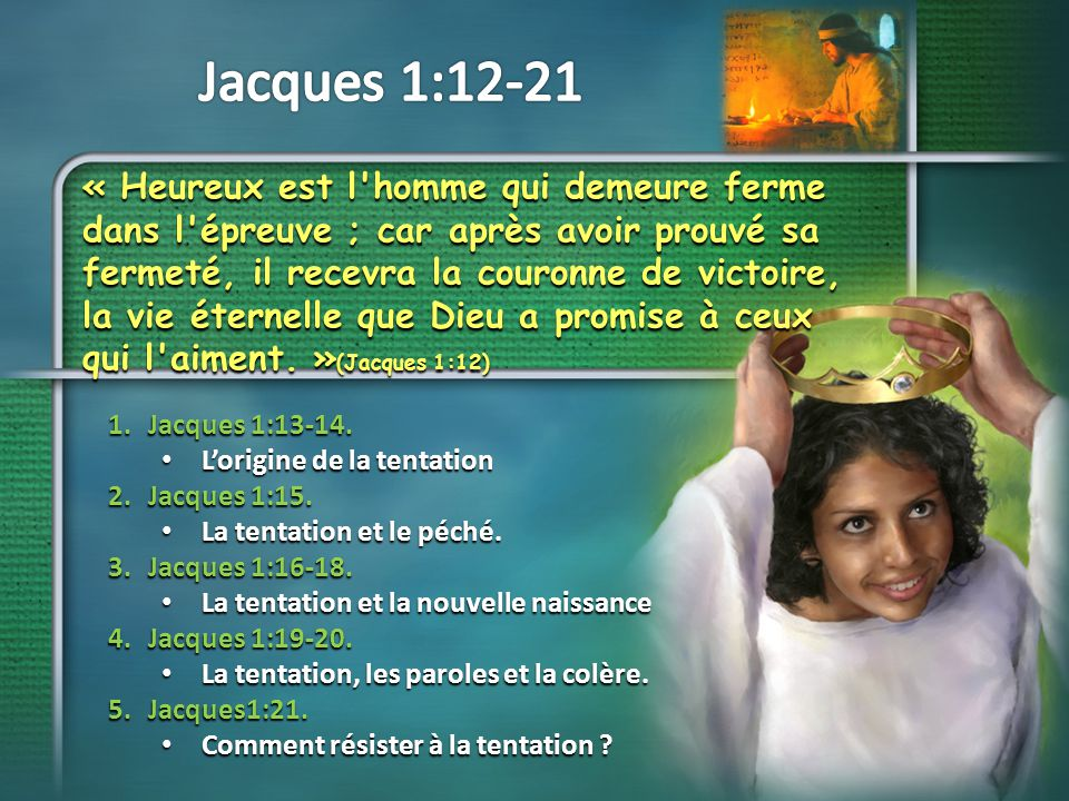 Jacques 1:12-21