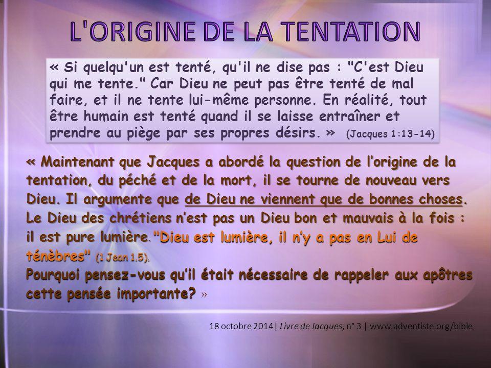 L ORIGINE DE LA TENTATION