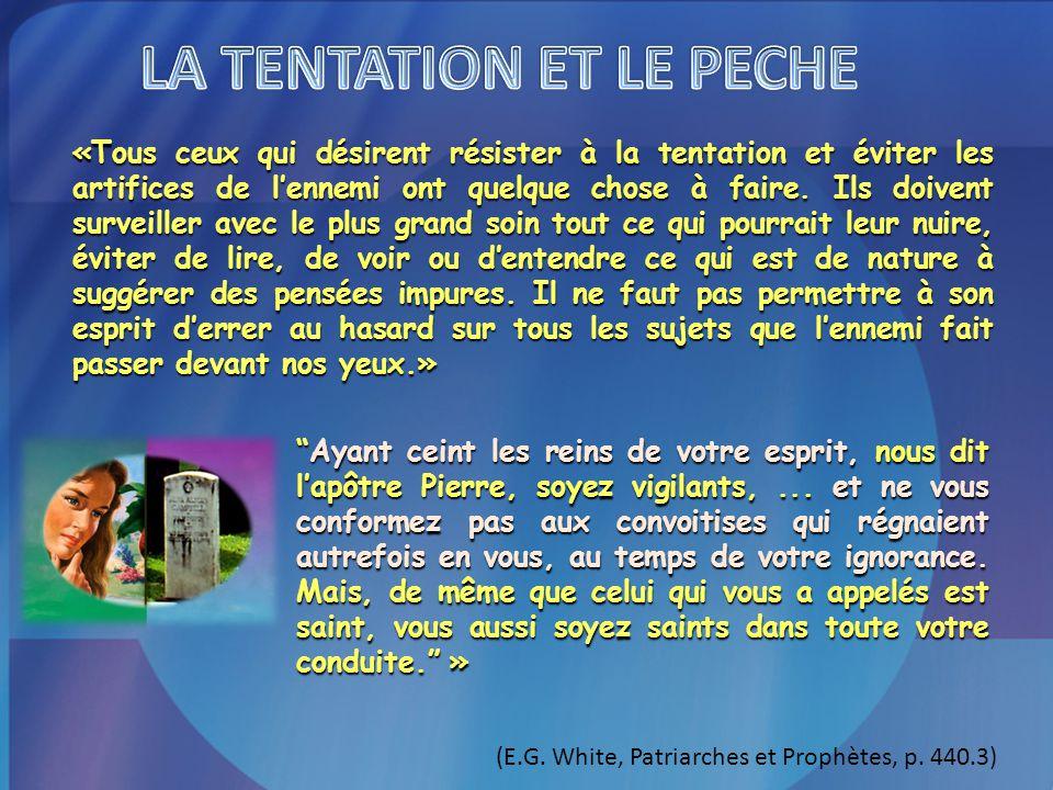 LA TENTATION ET LE PECHE