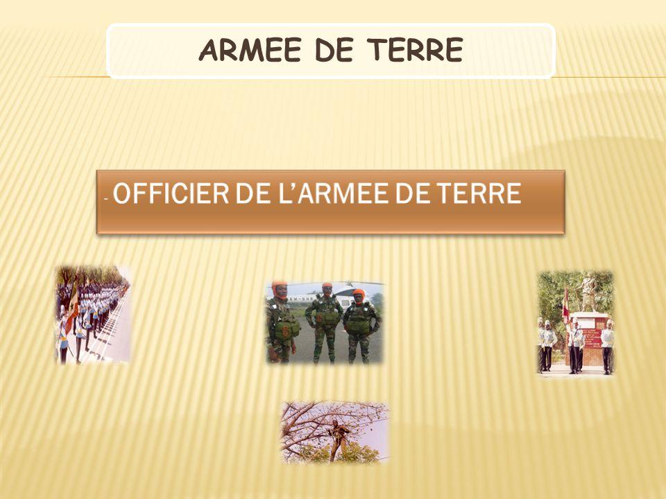 ARMEE DE TERRE OFFICIER DE L'ARMEE DE TERRE