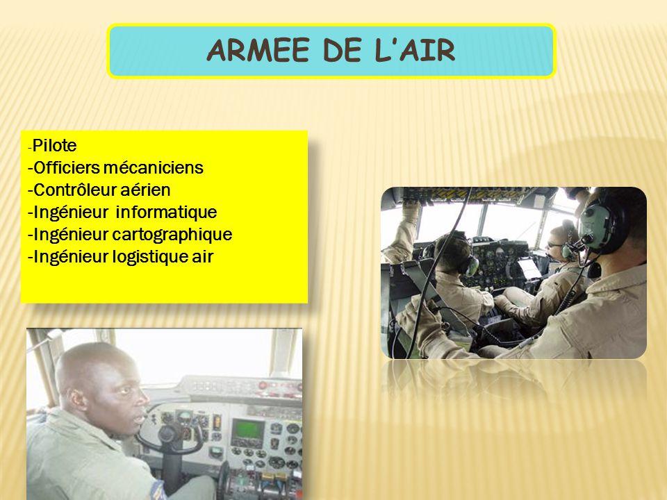 ARMEE DE L'AIR -Officiers mécaniciens -Contrôleur aérien
