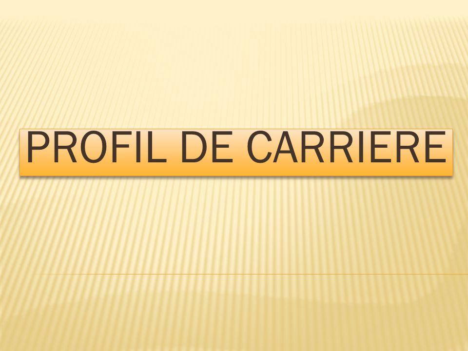 PROFIL DE CARRIERE