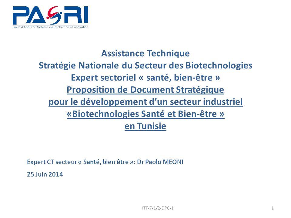 Expert CT secteur « Santé, bien être »: Dr Paolo MEONI 25 Juin 2014