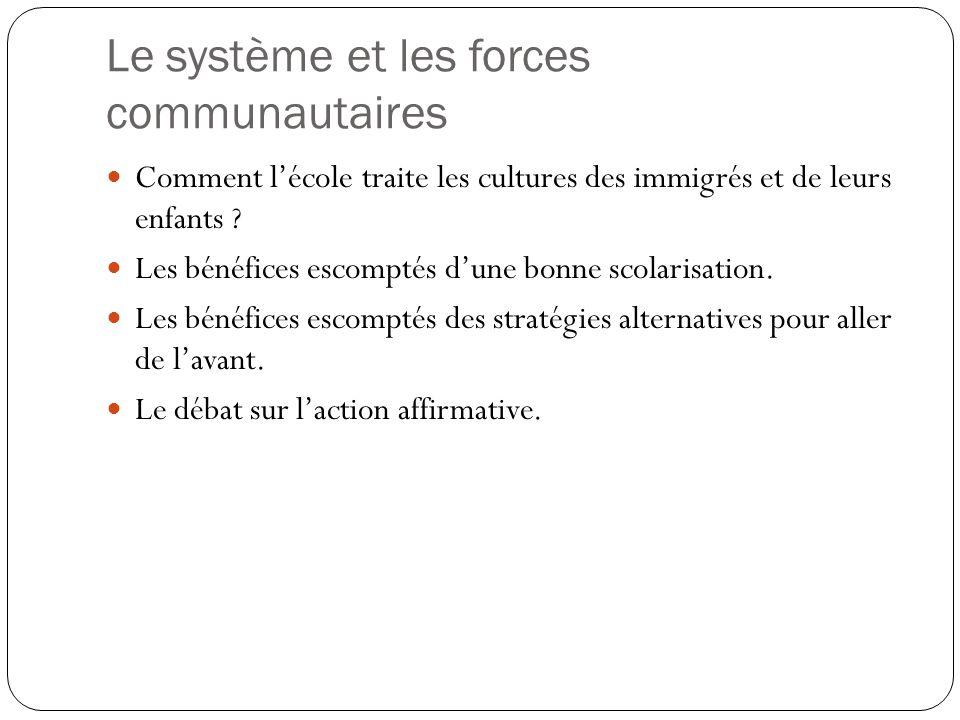 Le système et les forces communautaires