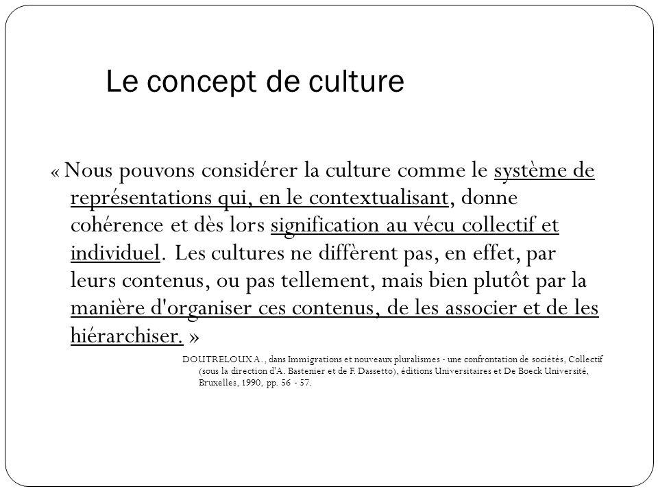 Le concept de culture