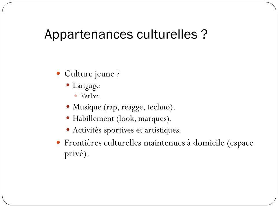 Appartenances culturelles