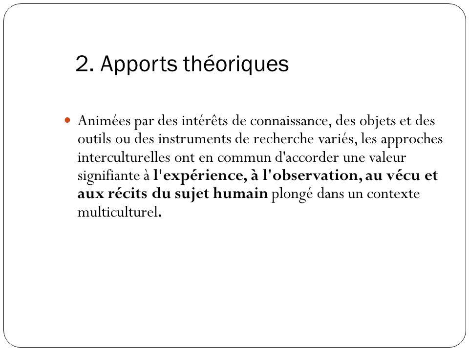 2. Apports théoriques