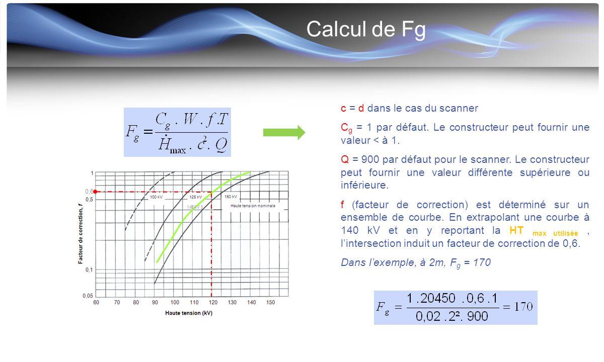 Calcul de Fg c = d dans le cas du scanner