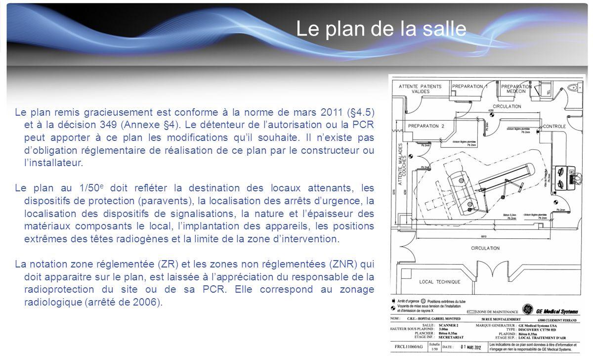 Le plan de la salle