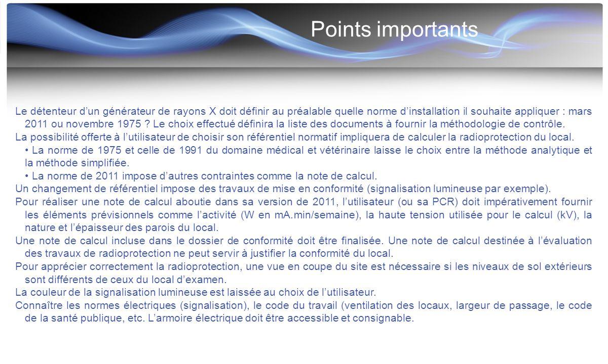 Points importants