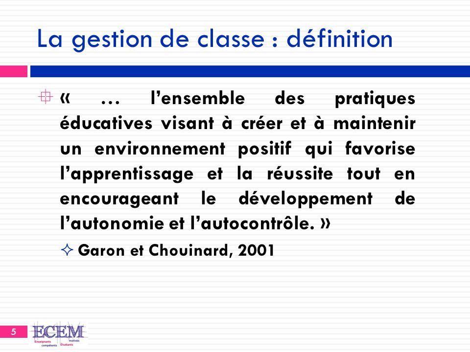 La gestion de classe : définition