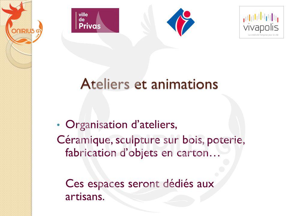 Ateliers et animations