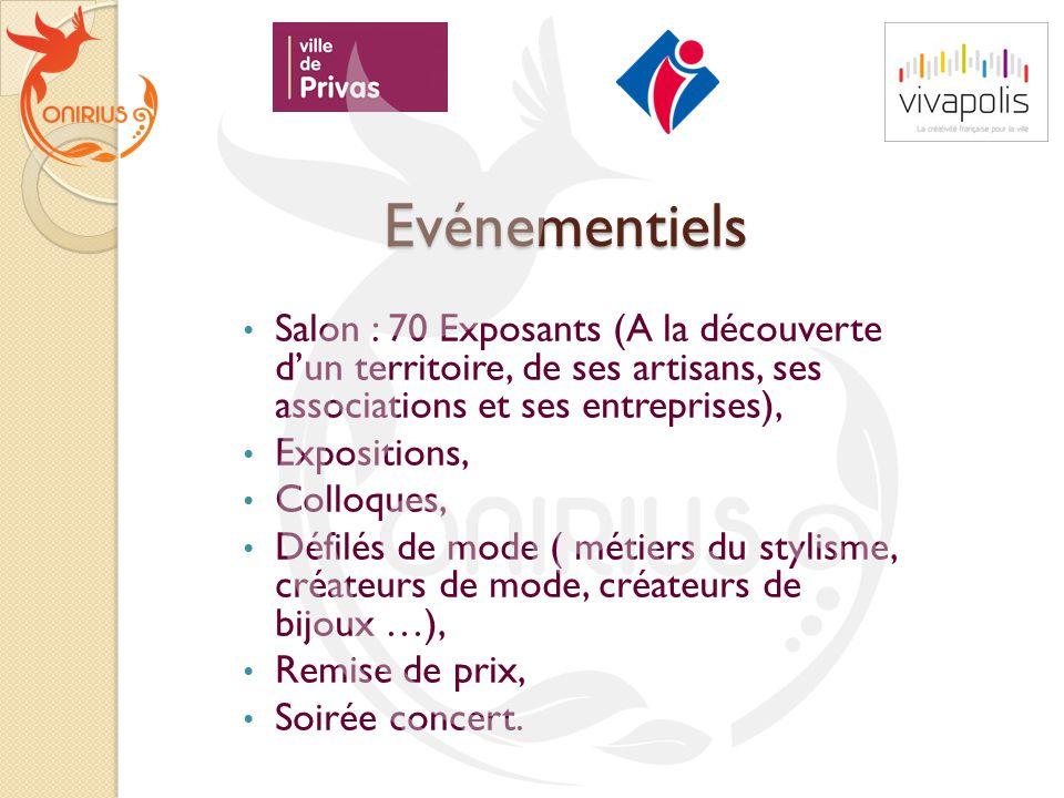 Evénementiels Salon : 70 Exposants (A la découverte d'un territoire, de ses artisans, ses associations et ses entreprises),