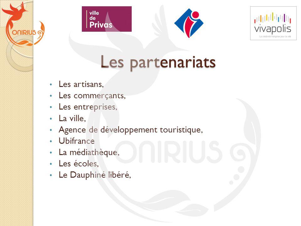 Les partenariats Les artisans, Les commerçants, Les entreprises,