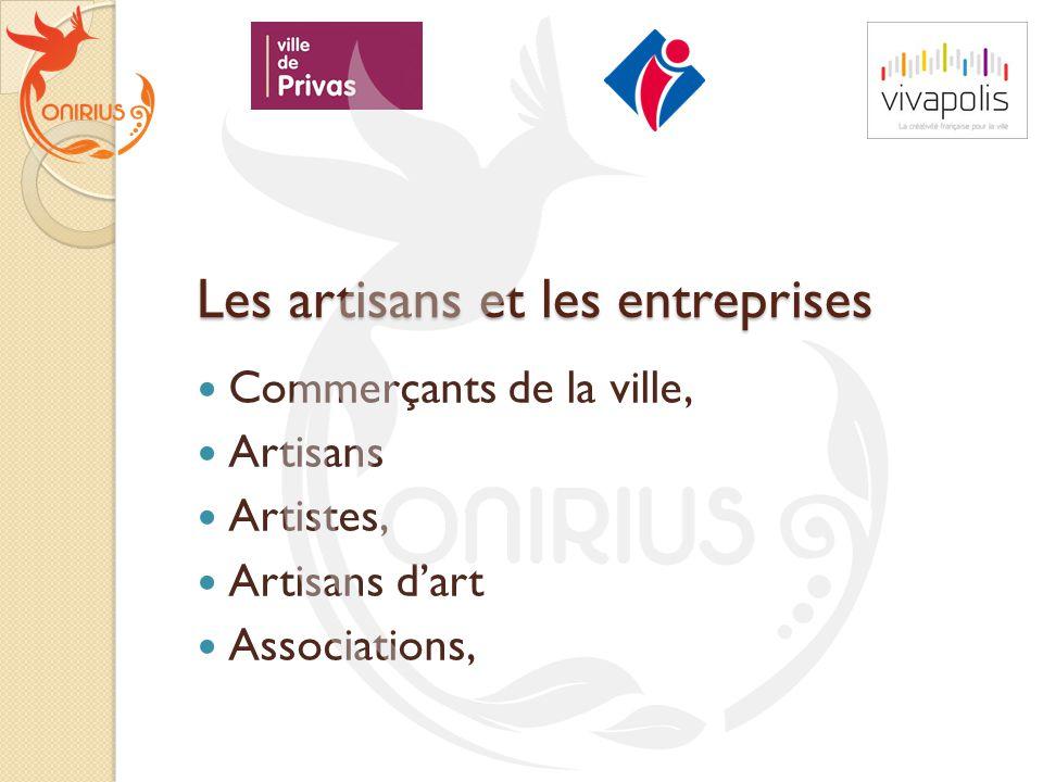 Les artisans et les entreprises