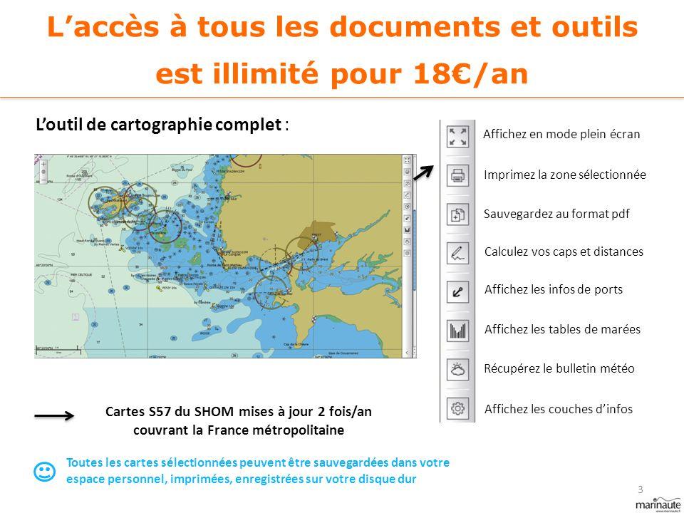 L'accès à tous les documents et outils est illimité pour 18€/an