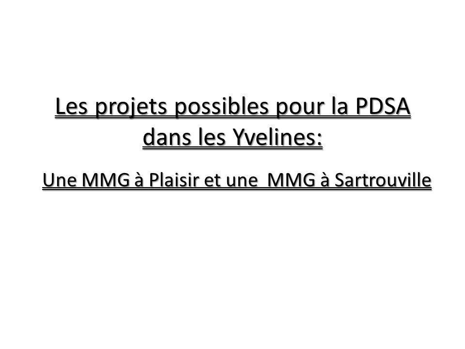 Les projets possibles pour la PDSA dans les Yvelines: