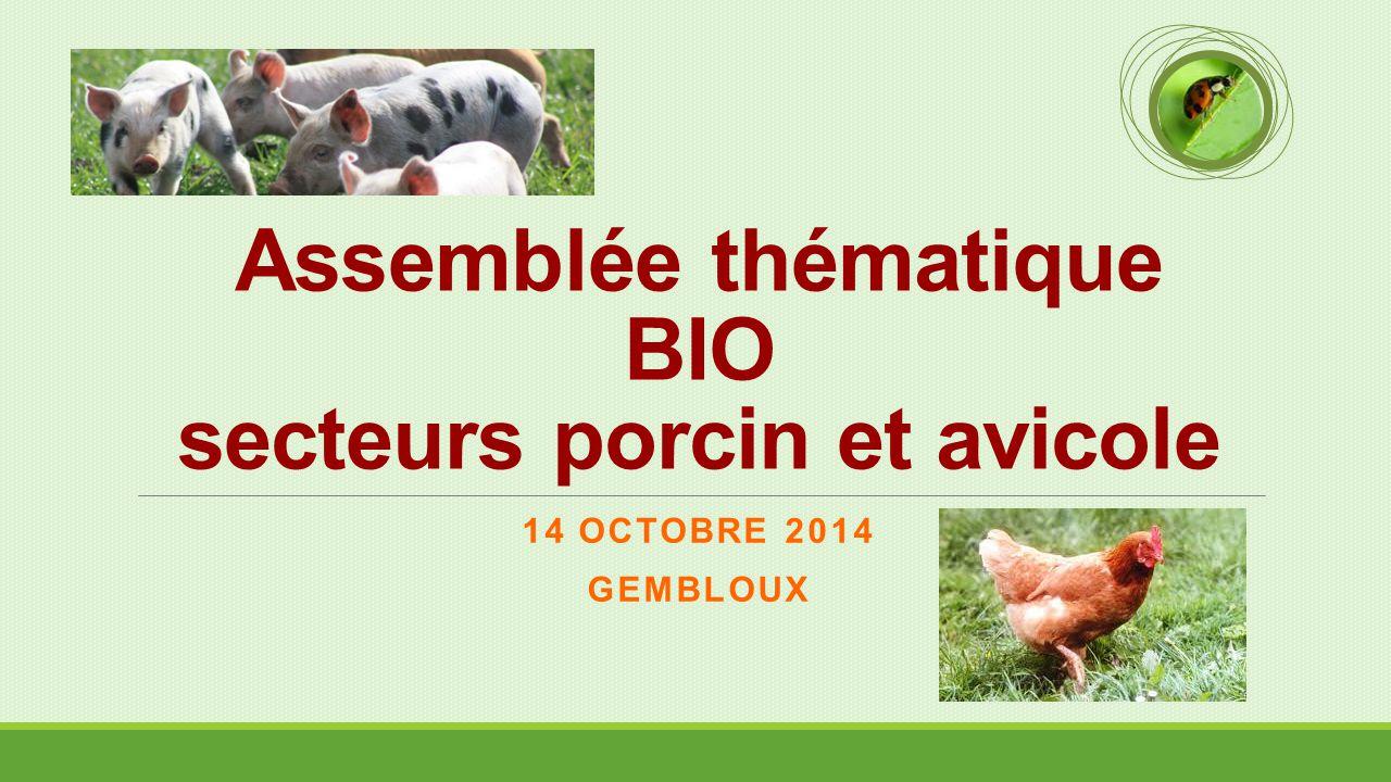 Assemblée thématique BIO secteurs porcin et avicole