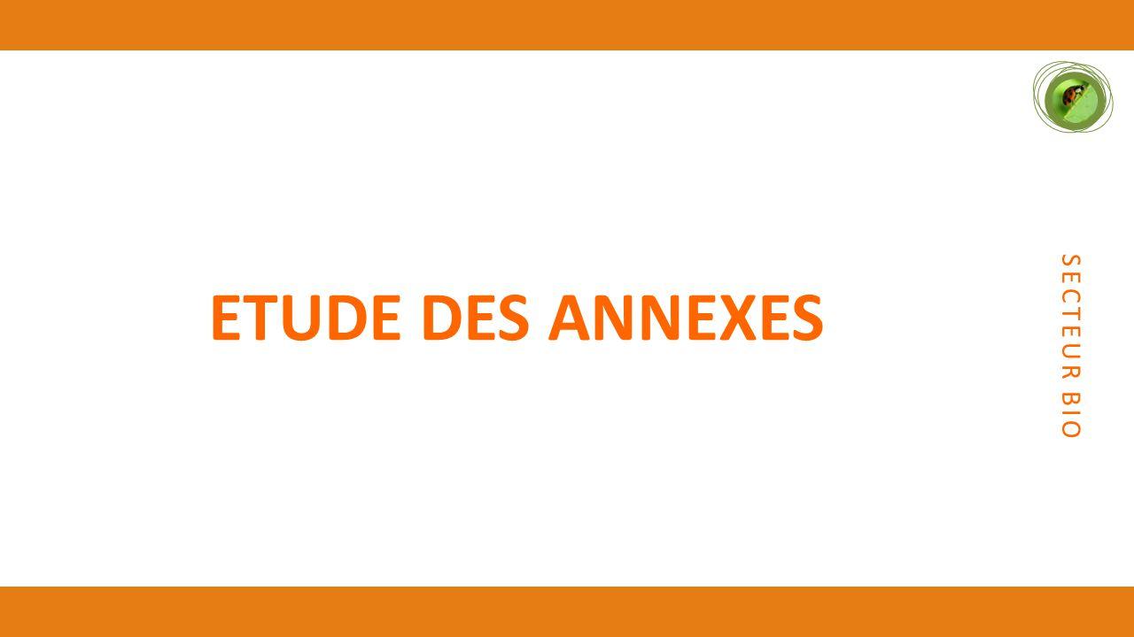 SECTEUR BIO ETUDE DES ANNEXES