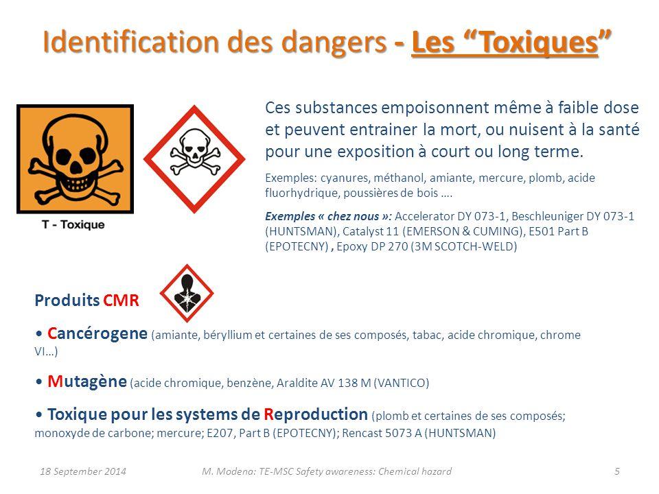 Identification des dangers - Les Toxiques