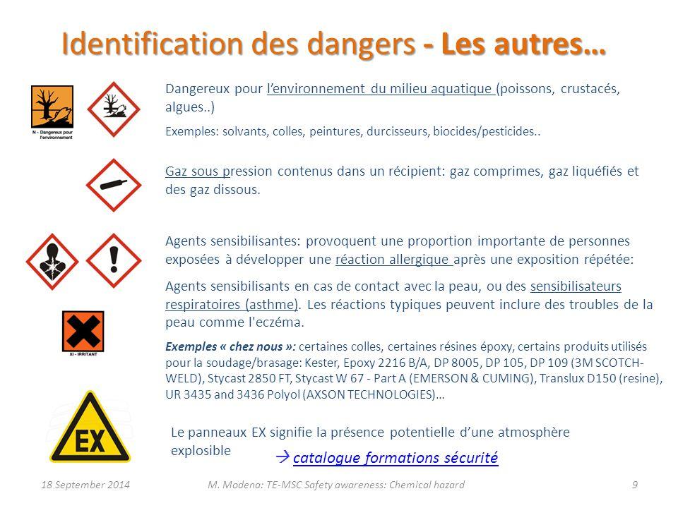 Identification des dangers - Les autres…