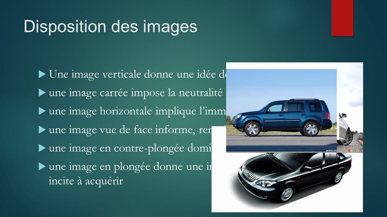 Disposition des images