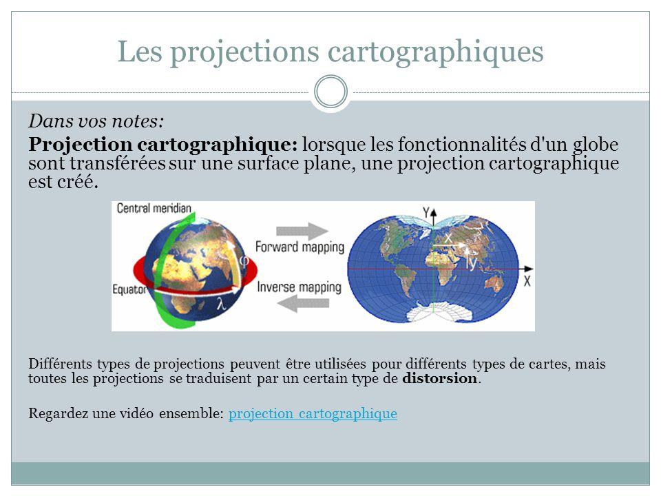 Les projections cartographiques